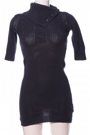 Only Knitted Dress blue cable stitch casual look