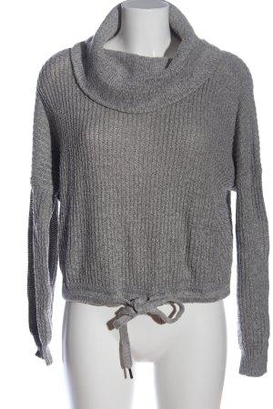 Only Sweter z golfem jasnoszary Melanżowy W stylu casual