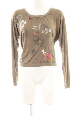 Only Haut dos-nu bronze motif de fleur style décontracté
