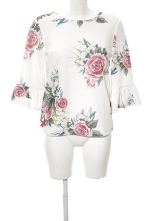 Only Rüschen-Bluse Blumenmuster Business-Look