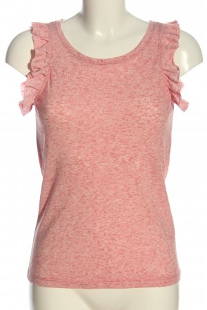 Only Rüschen-Bluse pink-creme meliert Casual-Look