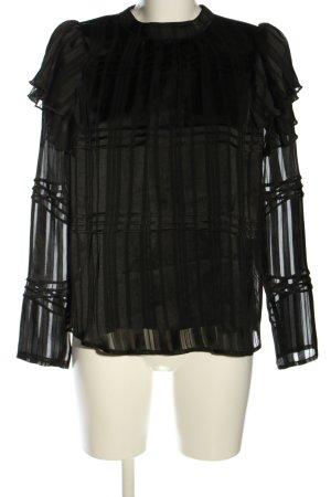 Only Rüschen-Bluse schwarz Elegant