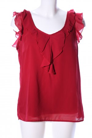 Only Rüschen-Bluse rot Casual-Look