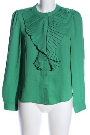 Only Rüschen-Bluse grün Business-Look