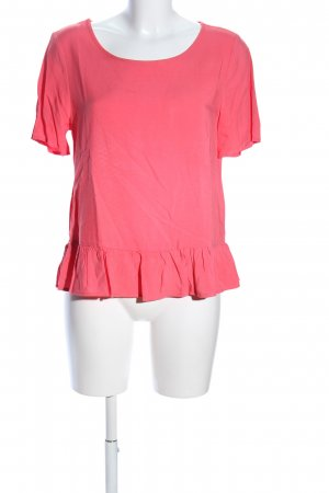 Only Rüschen-Bluse pink Casual-Look