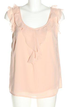 Only Bluzka z falbankami różowy W stylu casual