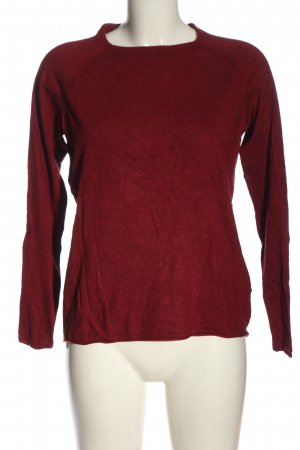 Only Rundhalspullover rot meliert Casual-Look