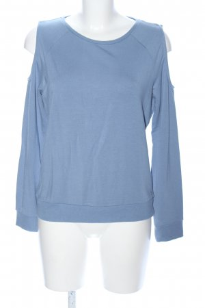 Only Rundhalspullover blau Casual-Look