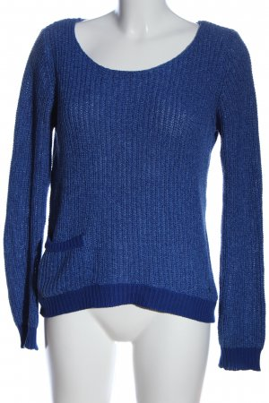 Only Strickpullover blau Zopfmuster Casual-Look