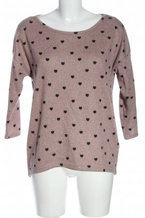 Only Rundhalspullover pink meliert Casual-Look