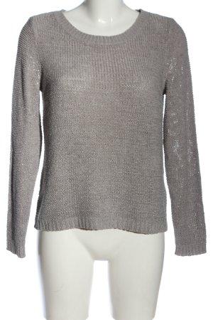 Only Maglione girocollo grigio chiaro stile casual