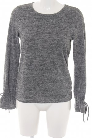Only Rundhalspullover grau meliert Casual-Look