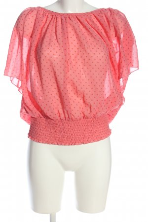 Only Schlupf-Bluse pink-hellorange Allover-Druck Casual-Look