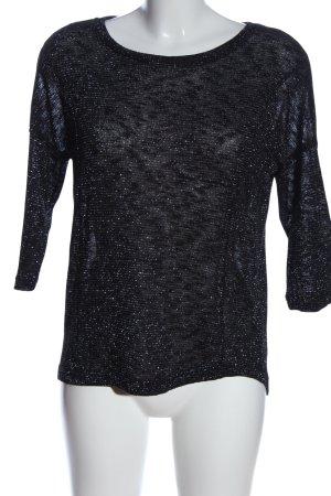 Only Schlupf-Bluse schwarz-silberfarben meliert Casual-Look