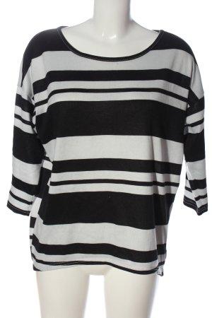 Only Longsleeve schwarz-weiß Streifenmuster Casual-Look