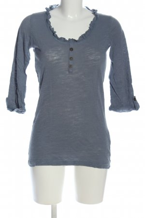 Only Schlupf-Bluse hellgrau Casual-Look