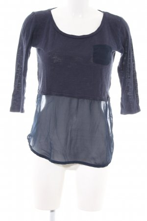 Only Schlupf-Bluse blau Casual-Look