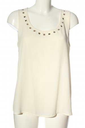 Only ärmellose Bluse creme Casual-Look