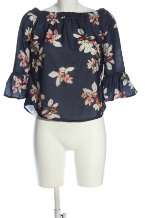 Only Schlupf-Bluse Blumenmuster Casual-Look