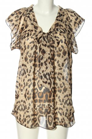 Only Tie-neck Blouse allover print extravagant style