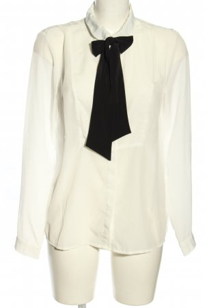 Only Tie-neck Blouse white business style