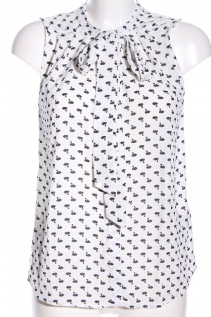 Only Tie-neck Blouse white-black allover print casual look