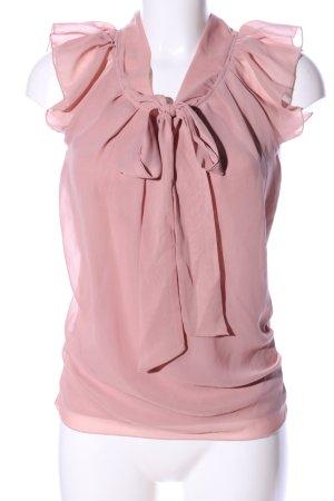 Only Blusa collo a cravatta rosa elegante