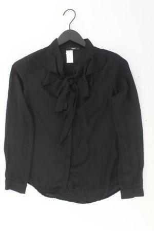 Only Schluppenbluse Größe 36 Langarm schwarz aus Polyester