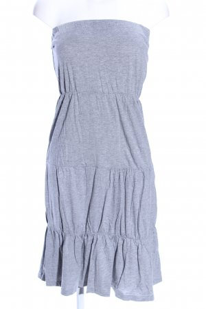 Only Off-The-Shoulder Dress light grey flecked casual look