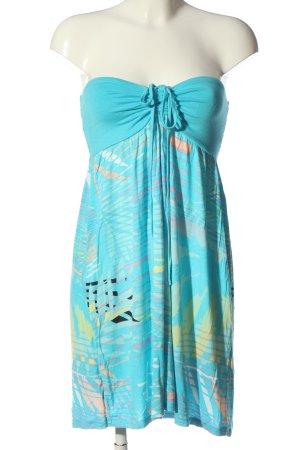 Only Robe épaules nues bleu Mélange de motifs style décontracté
