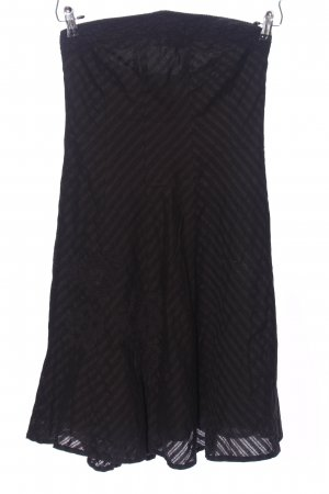 Only Off-The-Shoulder Dress black striped pattern business style