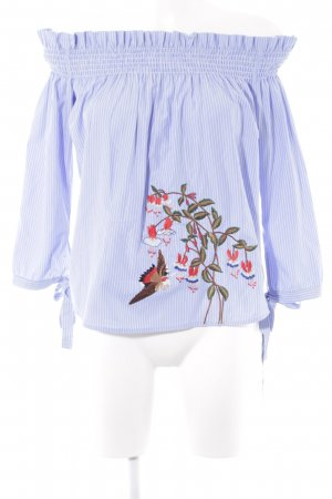 Only schulterfreies Top florales Muster Boho-Look