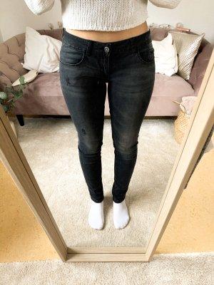 Only Jeans cigarette noir-gris foncé