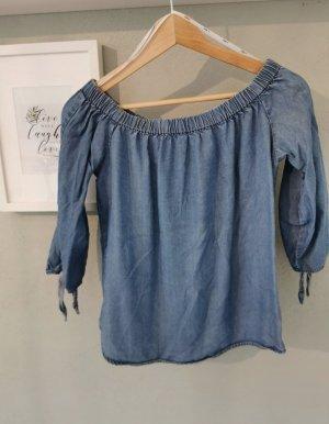 Only Blouse en jean bleu
