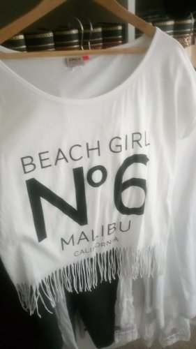 Be only Koszulka z nadrukiem biały-czarny Bawełna