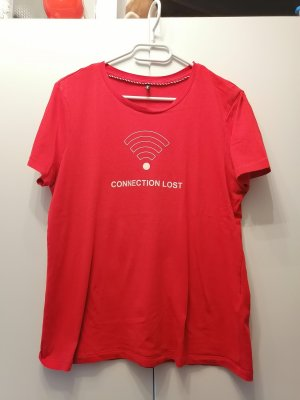 Only T-shirt bianco-rosso