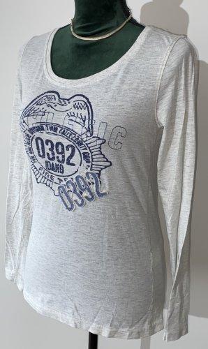 Be only Koszulka basic jasnoszary-błękitny Bawełna