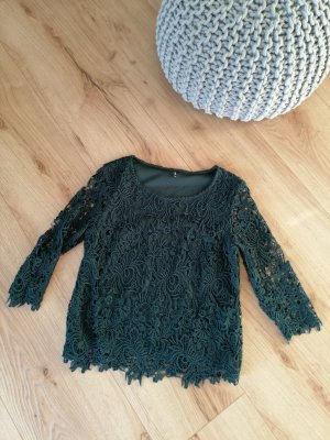 Only Lace Blouse dark green
