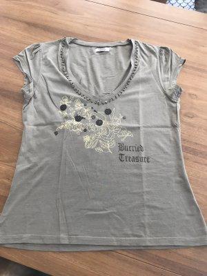 Only Shirt mit Münzen, Perlen, Pailletten