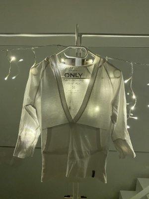 Only Shirt Pullover Dreiviertel Arm Gr. S weiß