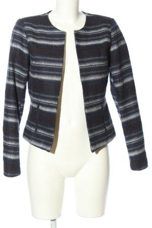 Only Giacca-camicia blu-bianco motivo a righe stile casual