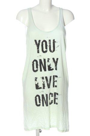 Only Sukienka o kroju koszulki biały-czarny Wydrukowane logo W stylu casual