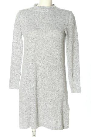 Only T-shirt jurk lichtgrijs gestippeld casual uitstraling