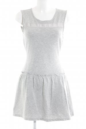 Only T-shirt jurk lichtgrijs Katoen
