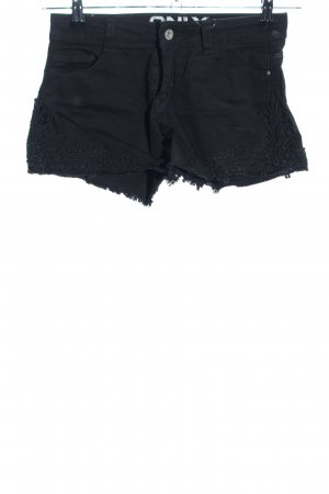 Only Shorts schwarz Blumenmuster Casual-Look