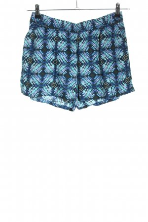 Only Shorts blau-türkis Allover-Druck Casual-Look