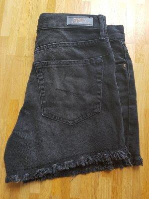 Only Short en jean noir-gris anthracite