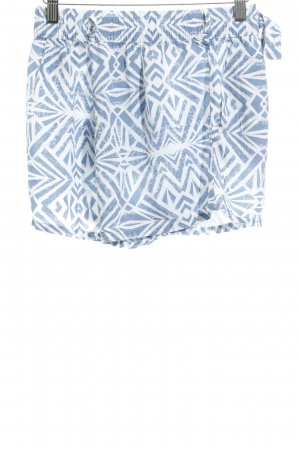 Only Shorts weiß-graublau abstraktes Muster Casual-Look