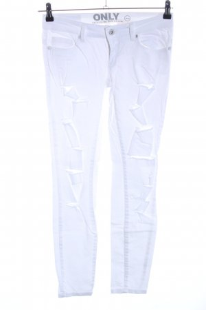 Only Jeans skinny bianco stile casual