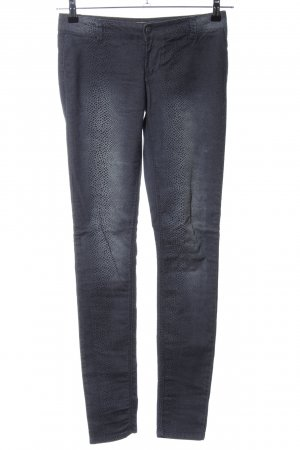 Only Skinny Jeans blau Animalmuster Casual-Look